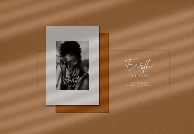 Maquette de brochure minimale avec une ombre douce