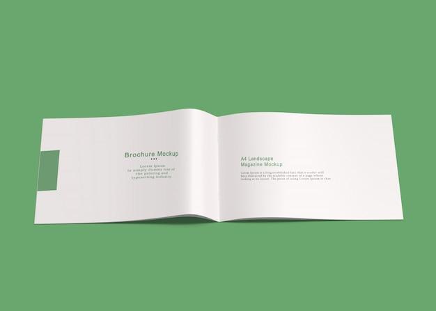 Maquette de brochure paysage a4