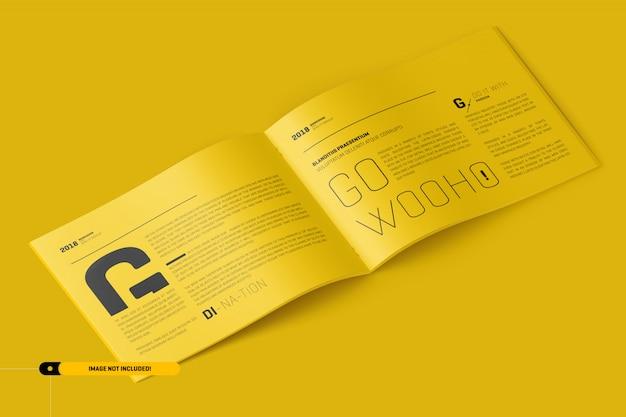 Maquette de brochure paysage us letter