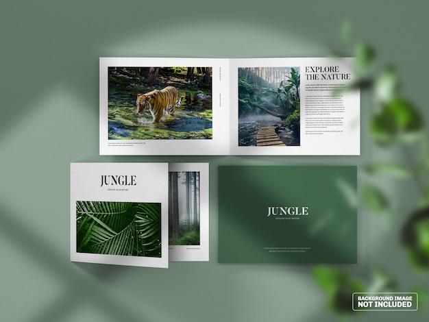 Maquette de brochure pliante horizontale
