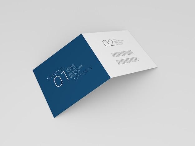 Maquette de brochure pliante minimal square