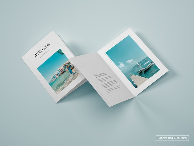 Maquette de brochure pliante verticale