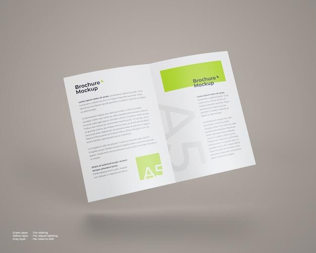 Maquette de brochure pliante volante