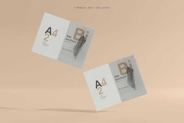 Maquette de brochure pliée en format a4