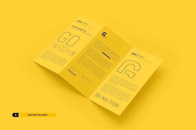 Maquette de brochure pliée