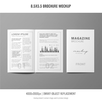 Maquette de brochure de portrait