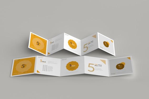 Maquette de brochure quadruple carré