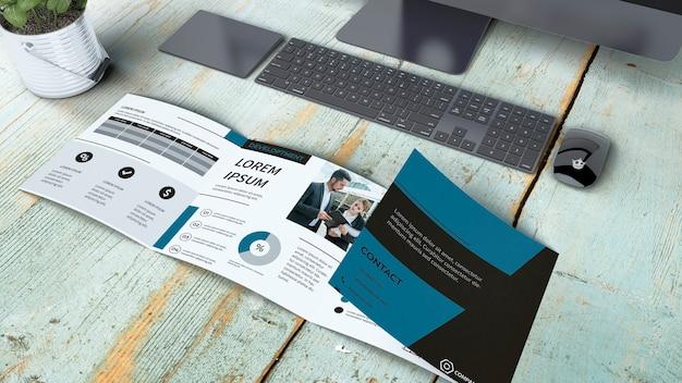 Maquette de brochure quadruple