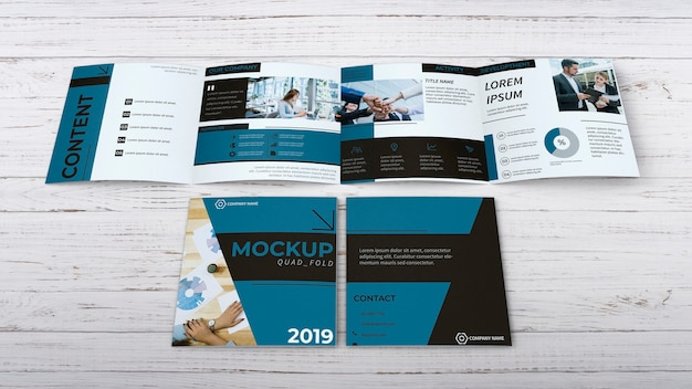Maquette de brochure quadruple