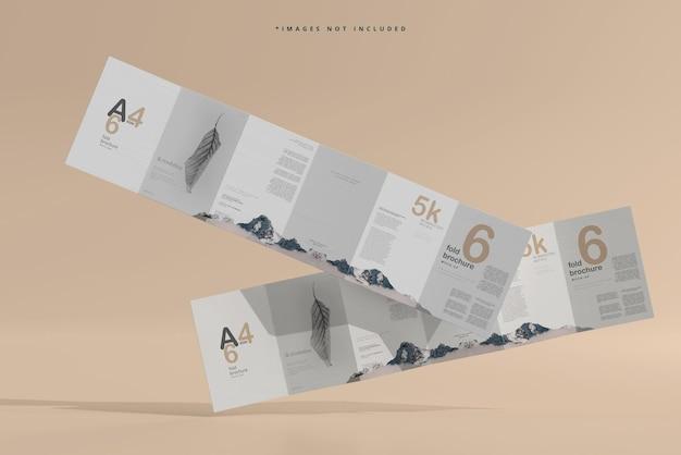 Maquette de brochure en six volets au format a4