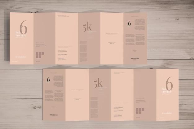 Maquette de brochure à six volets de taille dl