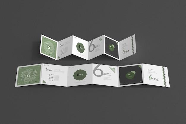 Maquette de brochure en six volets