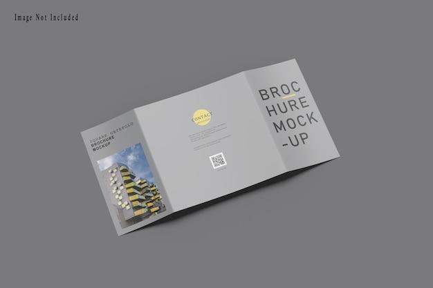 Maquette De Brochure Square Gatefold PSD Premium