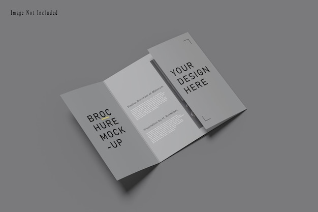 Maquette de brochure square gatefold