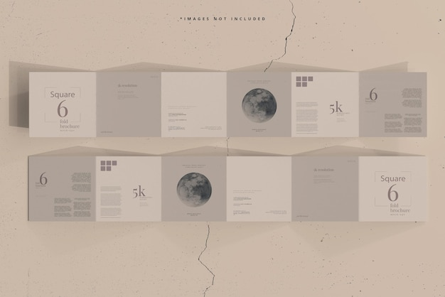 Maquette de brochure square six fold