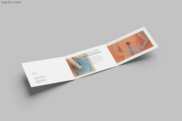 Maquette de brochure à trois volets a4 paysage