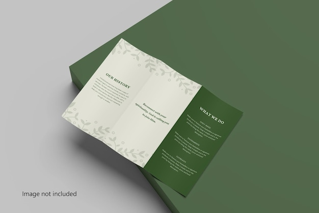 Maquette de brochure à trois volets a4