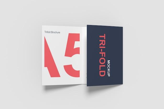 Maquette de brochure à trois volets a5