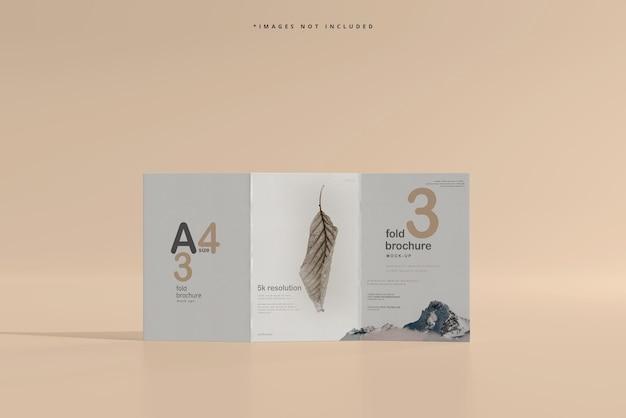 Maquette de brochure en trois volets au format a4