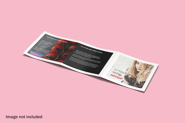 Maquette de brochure à trois volets carrée propre