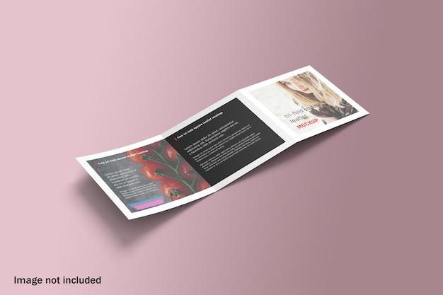 Maquette de brochure à trois volets carrée réaliste