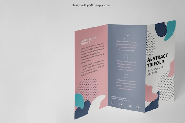 Maquette de brochure à trois volets debout