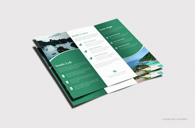 Maquette de brochure à trois volets à l'intérieur