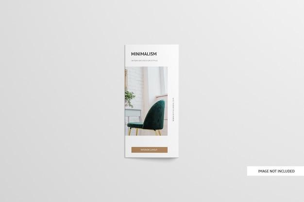 Maquette de brochure à trois volets isolée