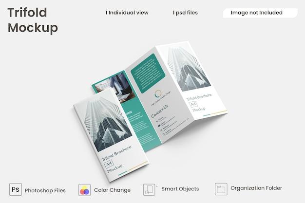 Maquette de brochure à trois volets premium psd