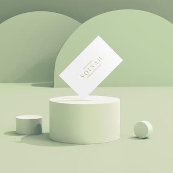 Maquette de brochure à trois volets avec superposition d'ombres