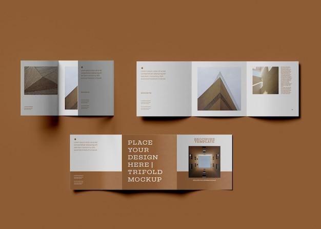 Maquette de brochure à trois volets