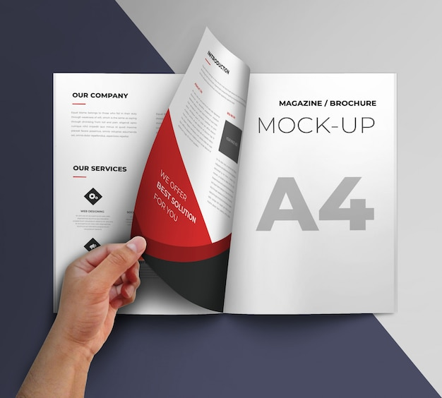 Maquette de la brochure