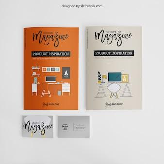 Maquette de brochures et de cartes de visite