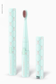 Maquette de brosse à dents électrique pour enfants, vue de gauche