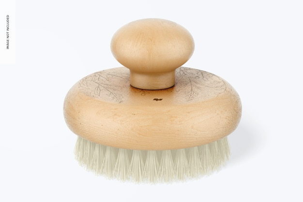 Maquette de brosse de masseur ronde