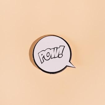 Maquette de bulle de dialogue