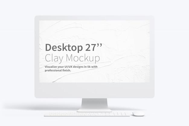 Maquette de bureau en argile de 27 po, vue de face