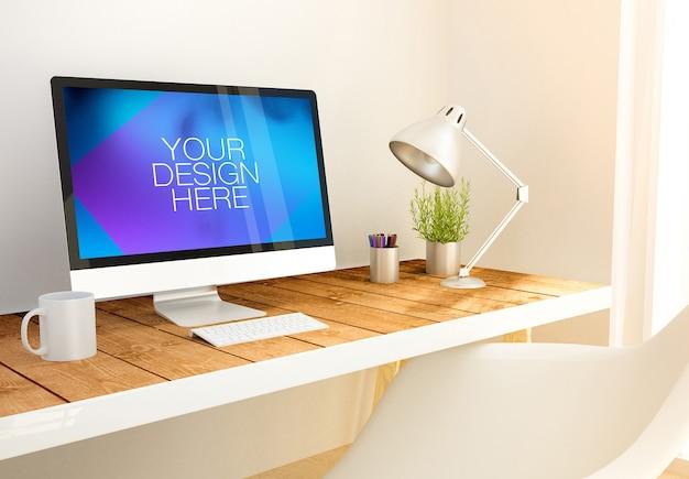 Maquette de bureau d'ordinateur
