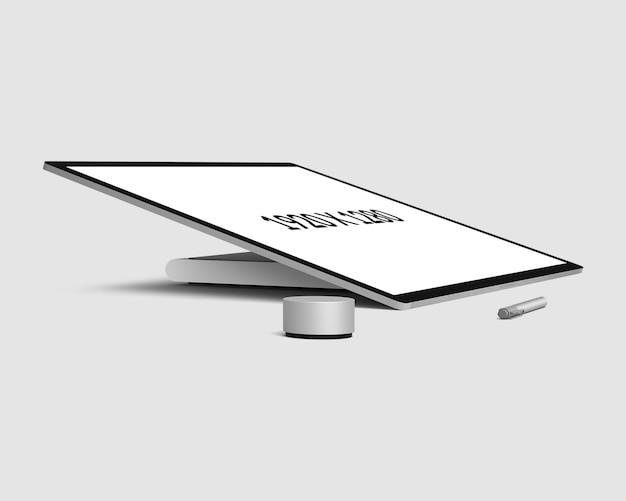 Maquette de bureau vue de surface en perspective
