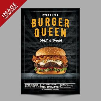 Maquette de burger flyer