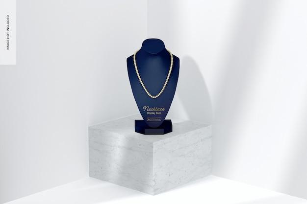 Maquette de buste d'affichage de collier