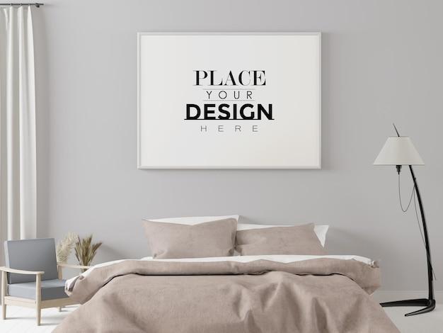 Maquette de cadre d'affiche dans la chambre