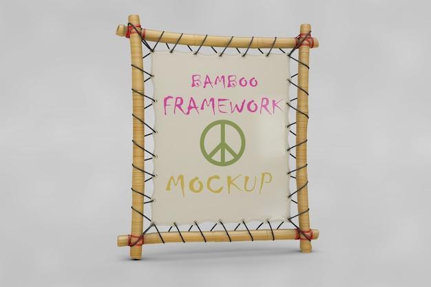 Maquette de cadre en bambou