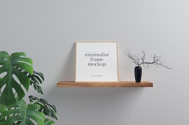 Maquette de cadre carré minimaliste