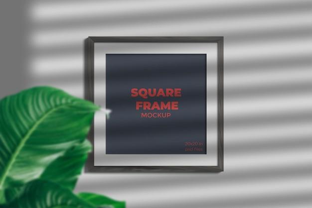Maquette de cadre carré avec ombre