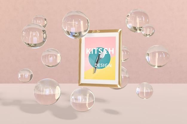 Maquette de cadre avec concept kitsch