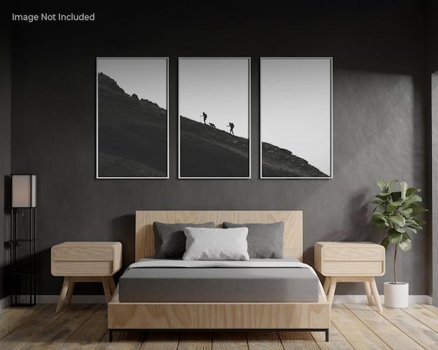 Maquette de cadre dans la chambre