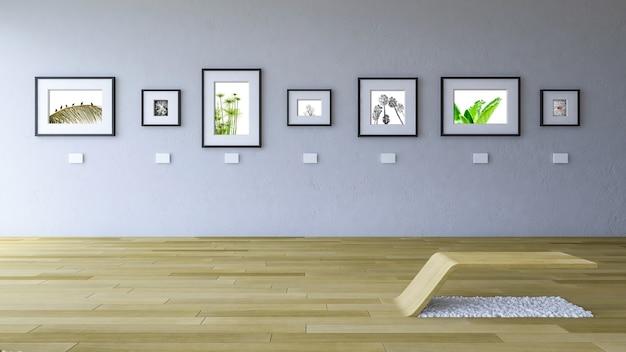Maquette de cadre dans la galerie