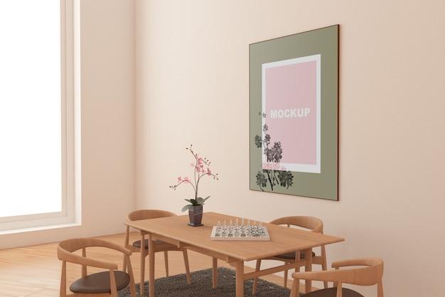 Maquette de cadre dans le salon