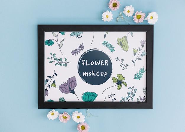 Maquette cadre à décor floral